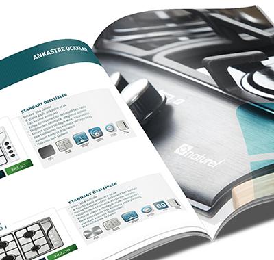 Naturel Ocak ankastre ürünler katalog tasarımı