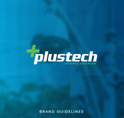 PlusTech Güvenlik Sistemleri Kurumsal Kimlik Tasarımı