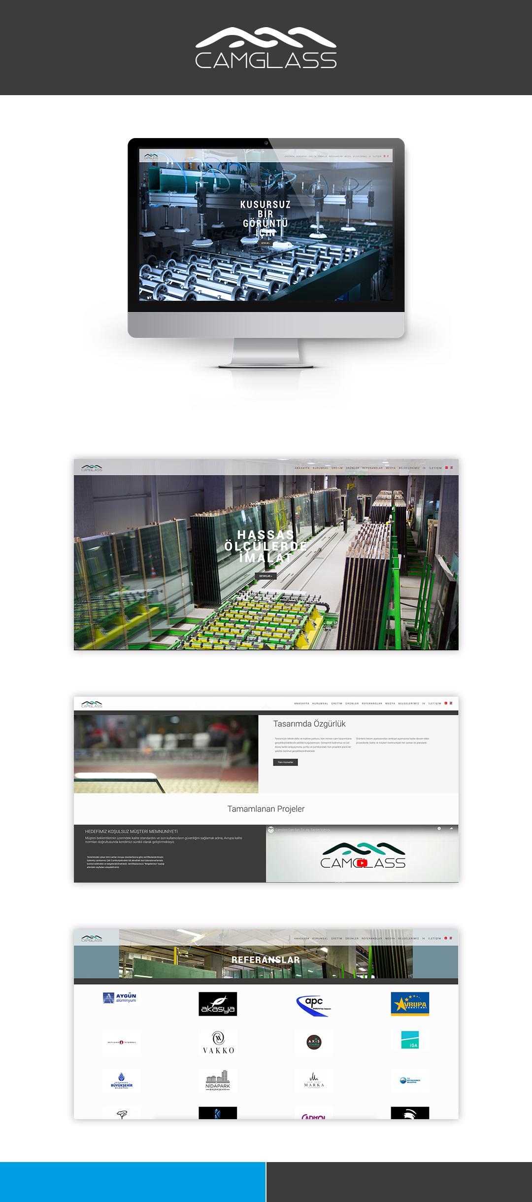 Camglass kurumsal web sitesi