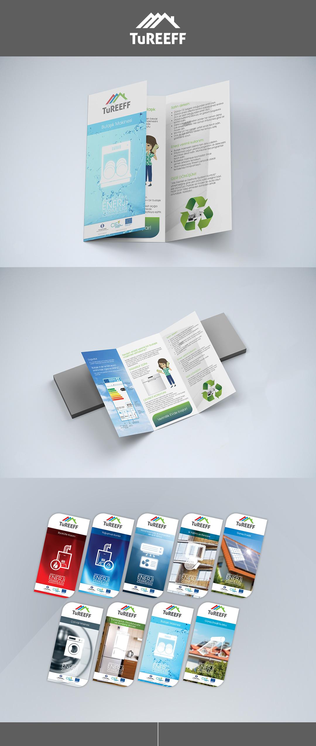 TuREEFF finansman türleri için hazırlanan broşürler