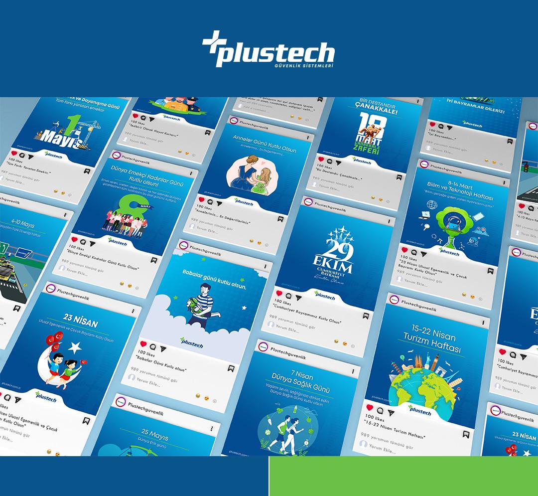 PlusTech sosyal medya görselleri