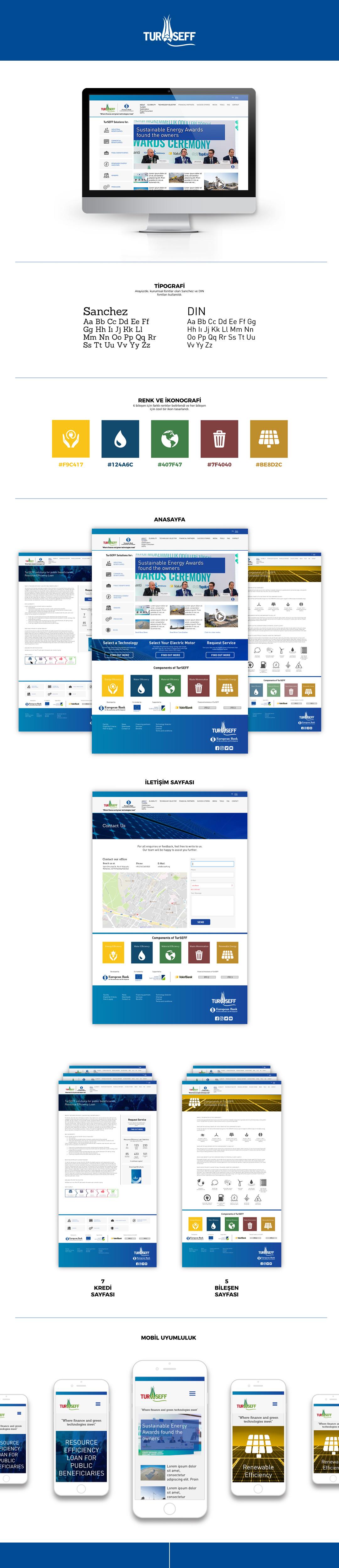 TurSEFF için hazırladığımız, tüm proje bilgilerinin, güncel haberlerin yer aldığı web sitesi