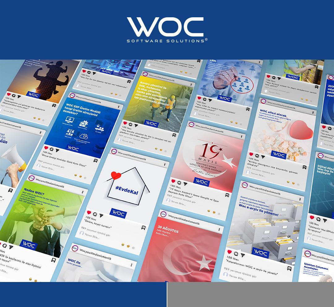 WOC Yazılım sosyal medya görselleri