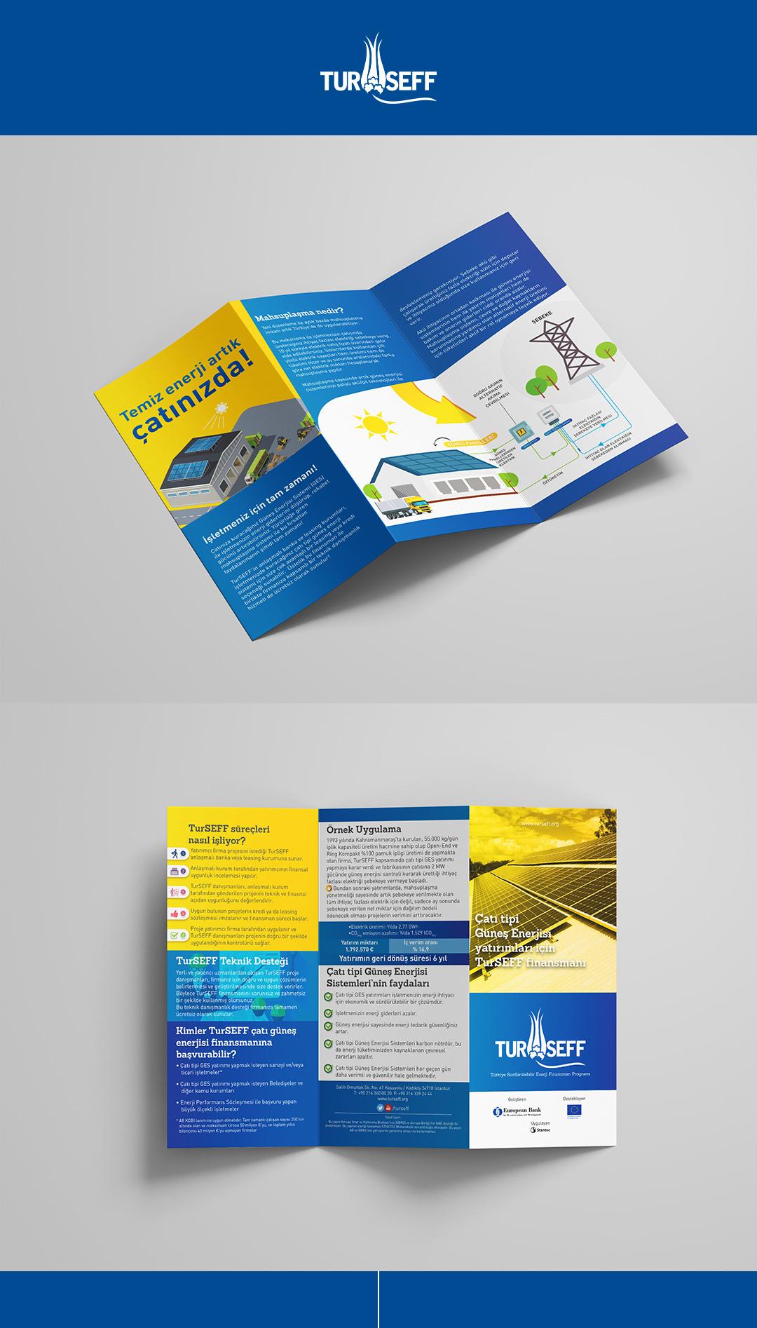 TurSEFF güneş enerjisi panelleri finansmanı için hazırlanan flyer